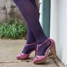 Aubergine Purple Opaque Tights XS/S by HUE