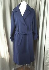 Cashmere Blend (67%) Navy Blue Coat 16 VGC