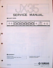 Yamaha JX35 Guitar Amplifier Original Service Manual, Schematics Parts List Book