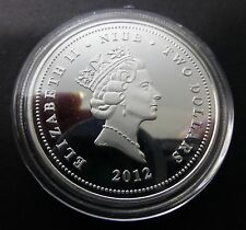 ELIZABETH II NIUE - TWO DOLLARS GOLDEN FISH 0.999 GOLD & SILVER COIN