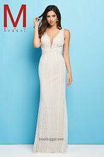 Authentic Mac Duggal 62309L Dress--Color: Ivory/Nude--Size: 14
