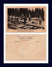 CANADA ALASKA HIGHWAY PORTABLE SAWMILL FOR CULVERT AND BRIDGE LUMBER CIRCA 1942