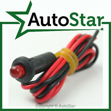 12v FLASHING Red LED Warning Light with Leads 12 Volt Dash Indicator Lamp ALARM