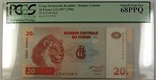 1.11.1997(98) Congo Democratic Repub. 20 Francs Note SCWPM# 88A PCGS GEM 68 PPQ