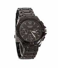 New Stylish Sober Wrist Watch for Men Black Dial - SMCONFBLA