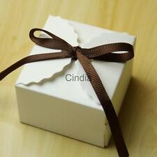 50pcs Wedding Favor Boxes Kraft Paper Square Sweet Cookies Packaging Bags