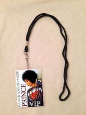 PRINCE 2016 PIANO & A MICROPHONE TOUR VIP PASS AND LANYARD! BACKSTAGE ALL ACCESS
