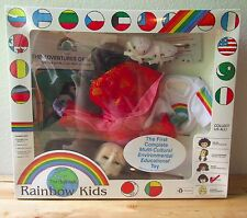 VTG 1994 The Oneness Rainbow Kids Meho China Multicultural Doll w/Cassette Book