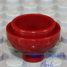 NEW Lego Minifig DARK RED FLOWER POT - Kitchen Food Bowl  2 x 2 Round Dome Brick