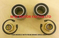 RENAULT CLIO 2.0 16v CUP SPORT 172 + 182 (2001-) REAR WHEEL BEARING KIT SET X2