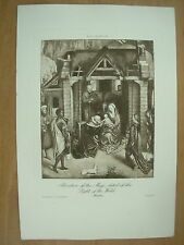 ANTIQUE MANSELL TEDDINGTON PRINT ADORATION OF THE MAGI By MEMLING