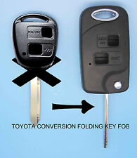 Fits Toyota Yaris Carina Corolla Avensis 2 Button Conversion Remote Flip Key FOB