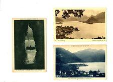 CPA 74 Haute-Savoie lac d'Annecy Lot de 3 cartes