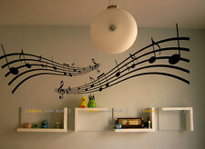 Large Music Notes Melody Wall Stickers Decals Vinyl Home Decal Mural
