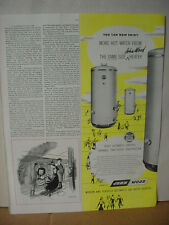 1949 John Wood Automatic Gas Water Heater Vintage Print Ad 10105