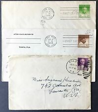 3 US covers Balboa Panama Canal Zone 1941 - 1948 with two FDC's