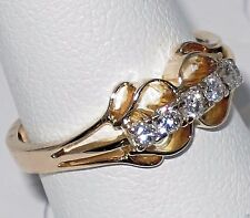 Vintage 14k y.gold ring with si-h 0.25ct Diamond, ring 3.20 gram, size 7.