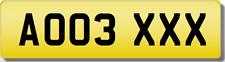 AO aoo Brand Sculacciata veicolo USATO AUDI a3 cari targa numero di registrazione.