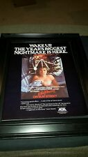 A Nightmare On Elm Street Rare Original Promo Poster Ad Framed!