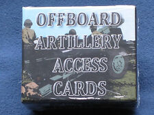 ASL Off Board Artillery (OBA) Access Cards shrinkwrapped Advanced Squad Leader
