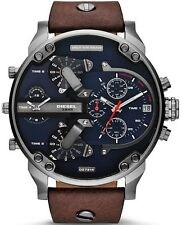 BRAND NEW DIESEL CHRONOGRAPH BROWN LEATHER MEN WATCH DZ7314