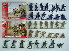 Airfix 1/32 WWII British & German Paratroops Boxed + 8 Loose British Commandos
