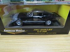 Ertl Limited Edition 1967 Black Shelby Mustang GT-500 Coupe , 1:18 Scale , New