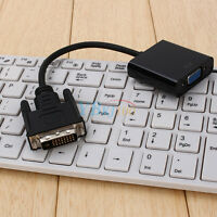 DVI-D 24+1 Male to VGA 15Pin Female Active Cable Adapter Converter For PC HDTV