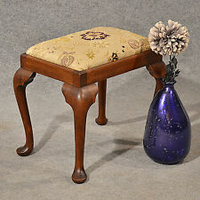Antique Dressing Music Fireside Stool Footstool Mahogany English Victorian c1900