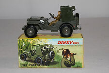 1960's French Dinky #828 Rocket Carrier Jeep, Nice with Original Box, Lot #14