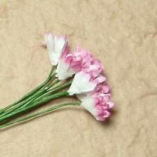 20 PINK GYPSO FLOWERS FOR CARDS OR CRAFTS