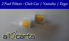 Two   Golf Cart Fuel Filters   Club Car   Ezgo   Yamaha   In line Fuel Filter