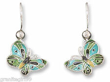 Little Blue Butterfly Earrings 925 Sterling Silver & Enamel Gift Boxed Mariposa