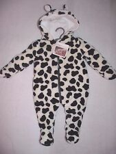 Funky Baby Boy Girl Cow Print Pram Suit Snowsuit by Pitter Patter 3-6 months