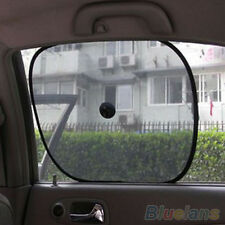 2pcs Chic Mesh Car Side Rear Window Sun Shade Cover Visor Shield Screen
