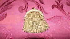 ANTIQUE GOLD ORNATE ART NOUVEAU STAMPED GERMANY CHAIN DOLL COIN PURSE