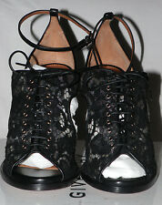 GIVENCHY LACE & LEATHER HIGH HEEL STILLETO SANDALS Sz. 36 / 6