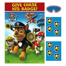 Paw Patrol Puppy Pets Poster 8 Player Birthday Party Game Set