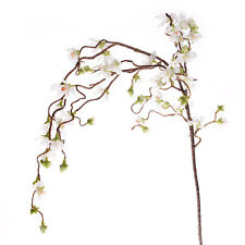 Artificial Cherry Blossom Branch Weeping 43 Inches White Spring Flowers