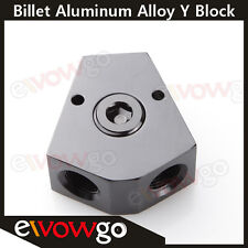 """3/8'' In 3/8'' Out Female Y-Block Fitting With 1/2"""" NPT Gauge Port Black"""