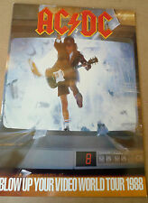 "AC/DC 12"" x 16"" Official Vintage Blow Up Your Video 1988 Tour Programme"