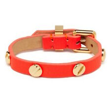 NEW Marc by Marc Jacobs Bracelet Infra Red Leather Screw It