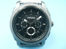 New Old Stock FOSSIL 45mm Chronograph Date Stainless Steel Quartz Men Watch