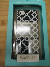 NEW Waverly iPhone 5/5S Phone Case Cover Single Piece Black White Modern