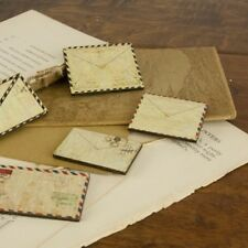 "Prima 556600 ""Envelope  Wood Embellishments ""  5  Pieces  NEW"