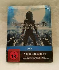 Underworld Quadrilogy STEELBOOK Blu Ray Sold Out Sealed Region Free Embossed