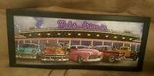 Mel's Drive-In California Panoramic 350 Piece Puzzle mounted in Black Frame