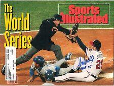 John Smoltz Signed Auto Sports Illustrated Oct 26th, 1992 W/HOF 15 JSA W 882886
