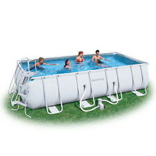 "Bestway 12'x22' Rectangle Fast Set Above Ground Swimming Pool Package, 52"" Deep"