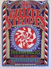 White Stripes | Detroit | Art by Gary Grimshaw - Original 2003 Concert Poster